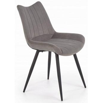 Krzesło K388 Popiel Velvet Halmar