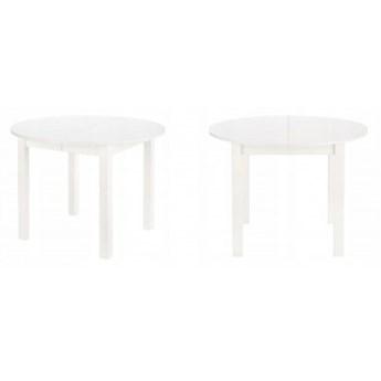 Stół Rozkładany Okrągły HARRY Biały