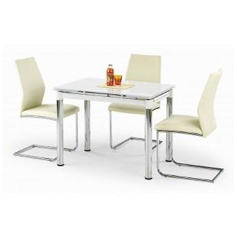 Stół Rozkładany Logan 2 Biały Szkło Halmar