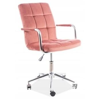 Fotel Obrotowy Q-022 Velvet Różowy Signal