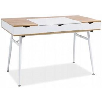 Biurko Skandynawskie Komputerowe B151 Białe Loft