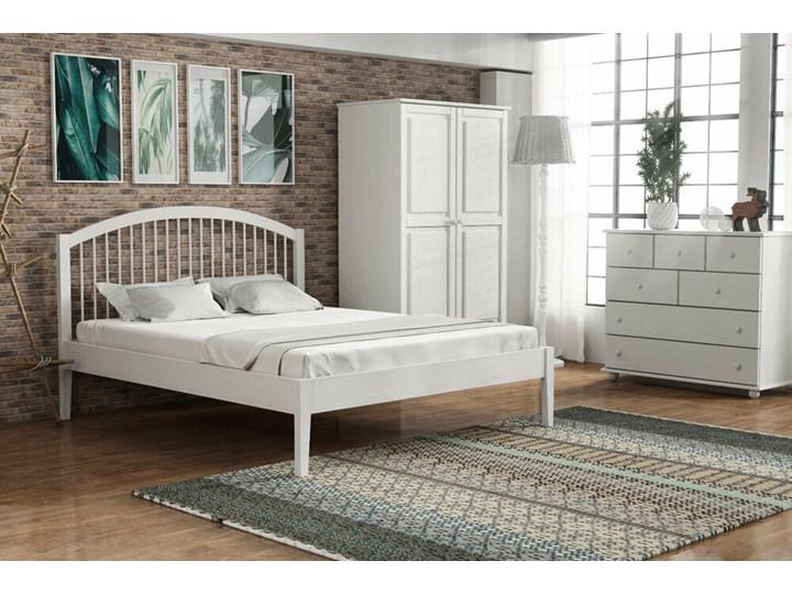 SELSEY Łóżko drewniane Difisella białe Drewno Styl Skandynawski