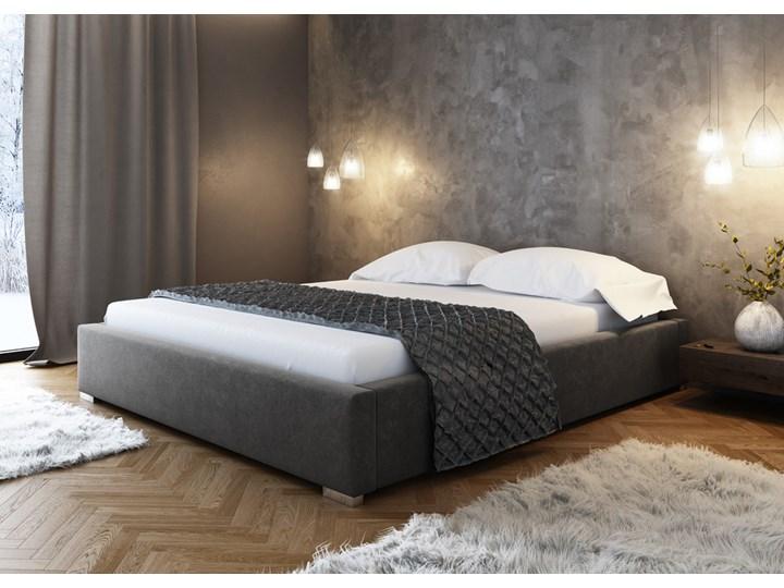 SELSEY Łóżko tapicerowane Plene z pojemnikiem szare Tkanina Rozmiar materaca 160x200 cm Kategoria Łóżka do sypialni