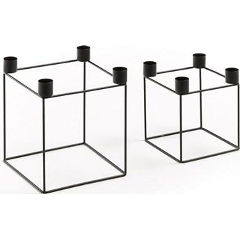 Świeczniki Yuna (2-set) czarne