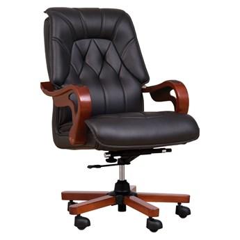 Fotel skórzany Makler, czarny