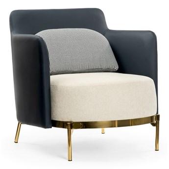 Fotel granatowo kremowy / złote nogi / WIND