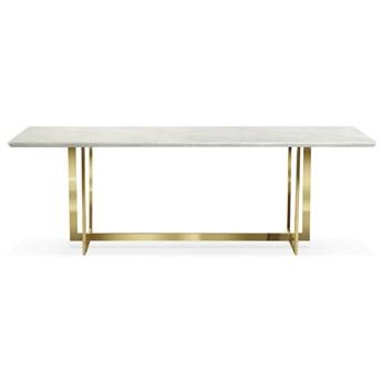 Stół biało złoty / marmur syntetyk/ Ramona