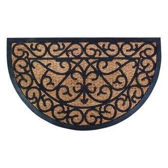 Gumowa półokrągła wycieraczka z włóknem kokosowym Esschert Design Ornamental