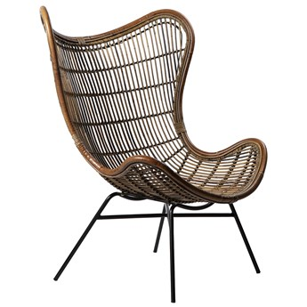 Fotel Koriander 88x110 cm brązowy