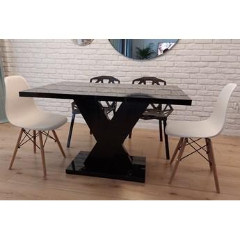 Nierozkładany stół do jadalni w wysokim połysku Oskar