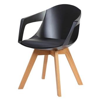 SELSEY Krzesło Lumbarda czarne