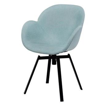 SELSEY Krzesło tapicerowane Chadder miętowa tkanina
