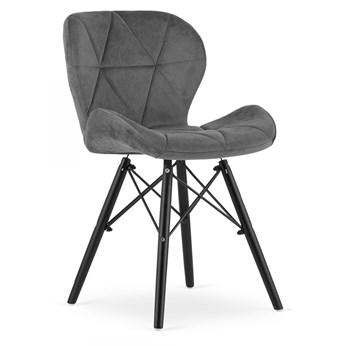 Krzesło Welurowe Thomas Grafitowe