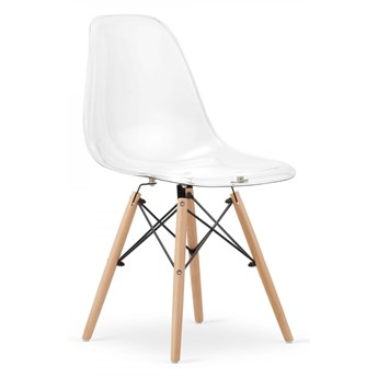 Krzesło Milano Przezroczyste Nogi Naturalne
