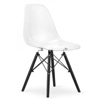 Krzesło Milano Przezroczyste Nogi Czarme
