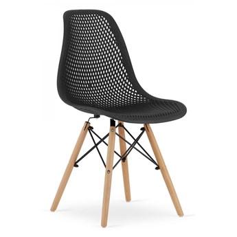 Krzesło Ażurowe Tokka Czarne