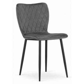 Krzesło Welurowe Arthur Szare
