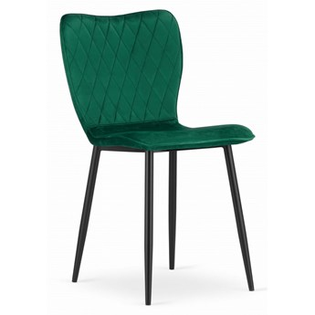 Krzesło Welurowe Arthur Butelkowa Zieleń
