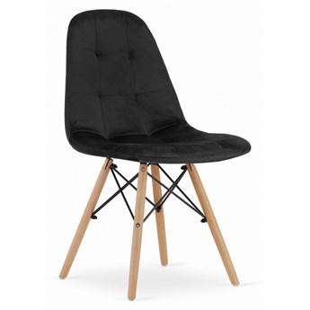 Krzesło Welurowe Charlotte Czarne