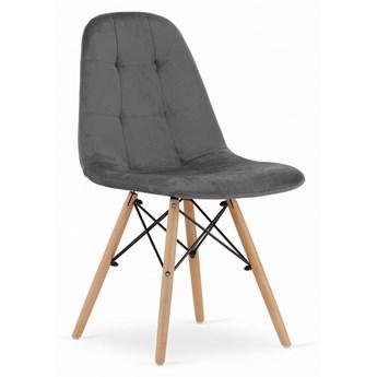 Krzesło Welurowe Charlotte Szare