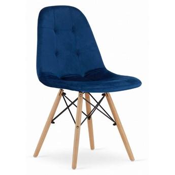 Krzesło Welurowe Charlotte Granatowe