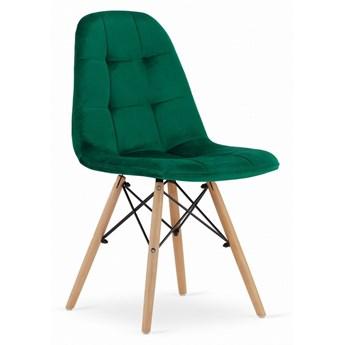 Krzesło Welurowe Charlotte Butelkowa Zieleń