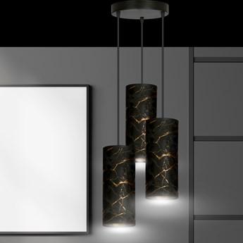KARLI 3 BL PREMIUM MARBEL BLACK lampa wisząca abażury regulowana nowoczesna