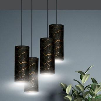 KARLI 4 BL PREMIUM MARBEL BLACK lampa wisząca abażury regulowana nowoczesna