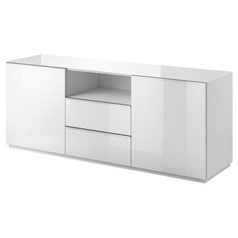 SELSEY Komoda dwudrzwiowa Monterry z dwiema szufladami biała