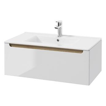 SELSEY Szafka pod umywalkę Saeli wisząca z szufladą i umywalką 30x80 cm
