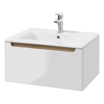 SELSEY Szafka pod umywalkę Saeli wisząca z szufladą i umywalką 30x60 cm