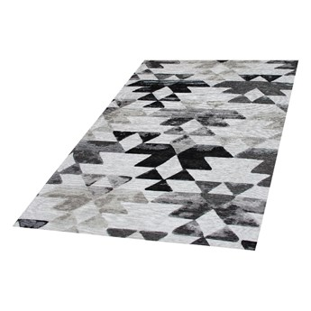 SELSEY Dywan nowoczesny Trójkąty szare i czarne 160x230 cm