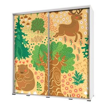 SELSEY Szafa przesuwna Wenecja 205 cm Rysunkowy las