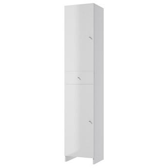 SELSEY Szafka łazienkowa Meandy stojąca z szufladą biała