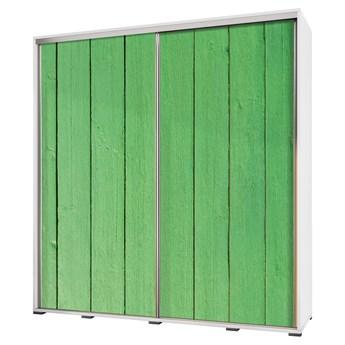 SELSEY Szafa Wenecja 205 cm Zielone drewno
