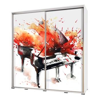 SELSEY Szafa Wenecja 205 cm Akwarelowy fortepian w ogniu