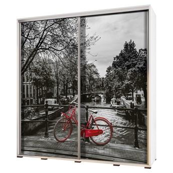SELSEY Szafa Wenecja 205 cm Czerwony rower