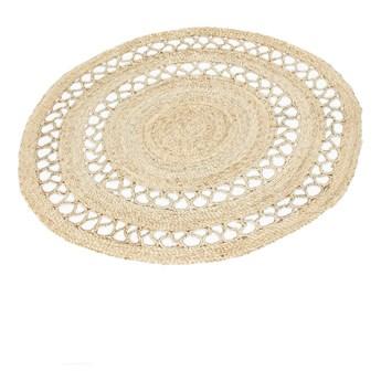 SELSEY Dywan nowoczesny Mandala z naturalnego sznurka jasna średnica 120 cm