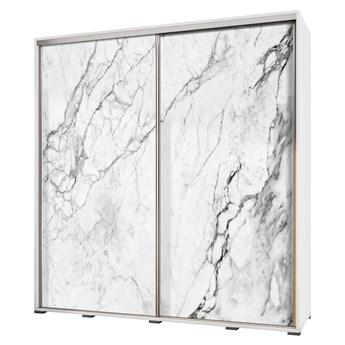 SELSEY Szafa przesuwna Wenecja 205 cm Biały marmur