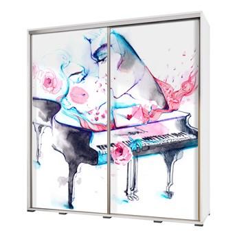 SELSEY Szafa Wenecja 205 cm Akwarelowy fortepian