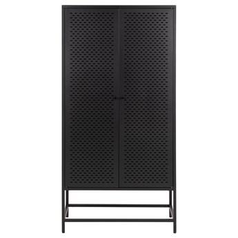 SELSEY Komoda metalowa Rondan w stylu industrialnym 160x80 cm czarna