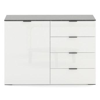 SELSEY Komoda jednodrzwiowa Irmgard z szufladami biała