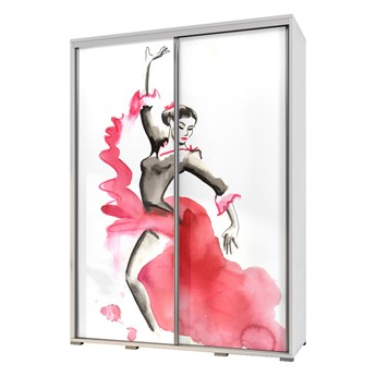 SELSEY Szafa Wenecja 155 cm Flamenco