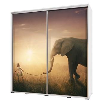 SELSEY Szafa Wenecja 205 cm Spacer ze słoniem