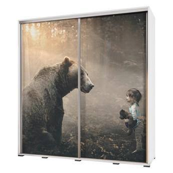 SELSEY Szafa Wenecja 205 cm Przyjazny niedźwiedź