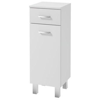 SELSEY Szafka łazienkowa Loope stojąca z szufladą biała