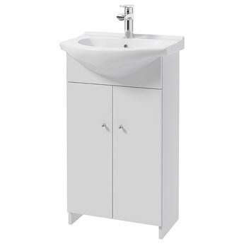 SELSEY Szafka pod umywalkę Meandy stojąca podwójna biała z umywalką