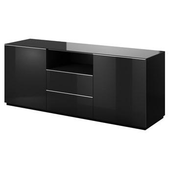 SELSEY Komoda dwudrzwiowa Monterry z dwiema szufladami czarna