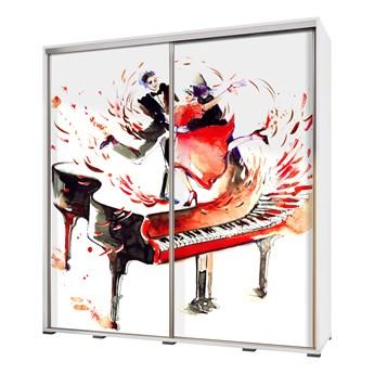 SELSEY Szafa Wenecja 205 cm Akwarelowy fortepian z tańczącą parą