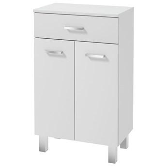 SELSEY Szafka łazienkowa Loope stojąca podwójna z szufladą biała